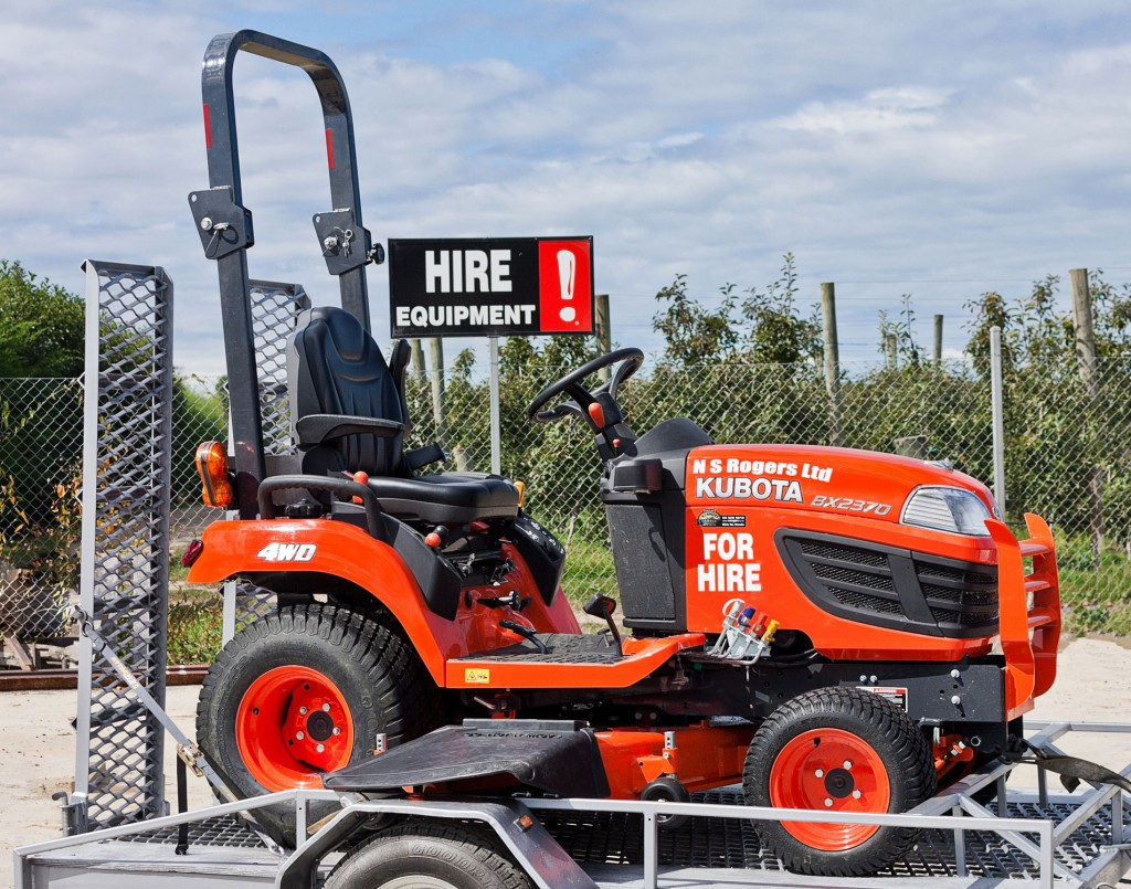 New Kubota Ride On Mower for hire