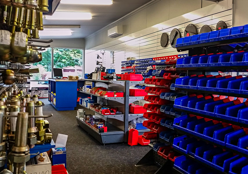 Our new and enlarged Parts Department